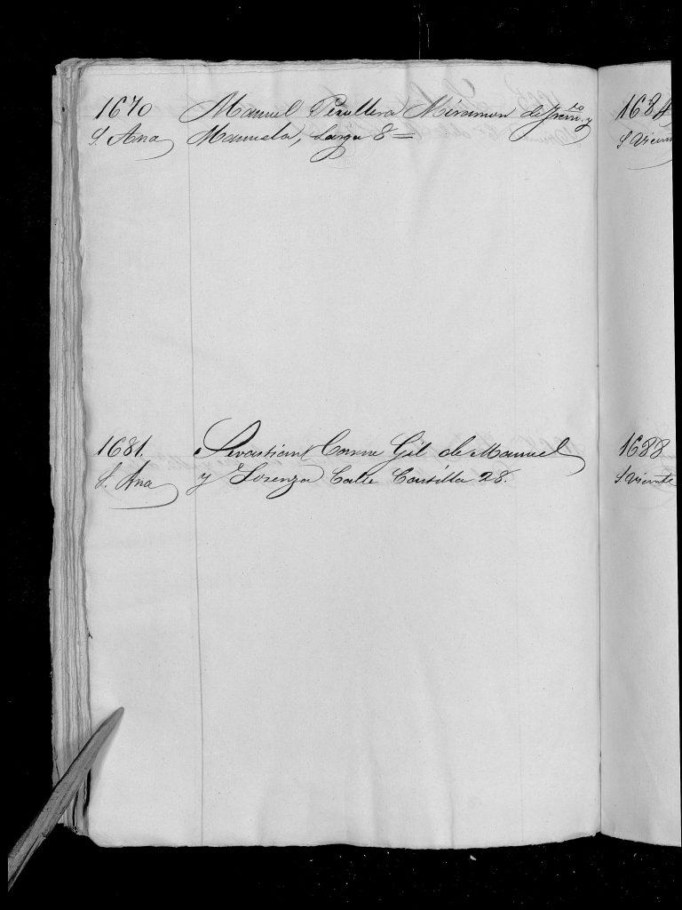 Documento de reclutamiento de Manuel Peruyera Miramón.