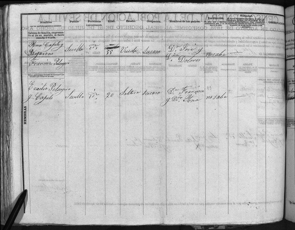 Segunda pagina padrón 1875.