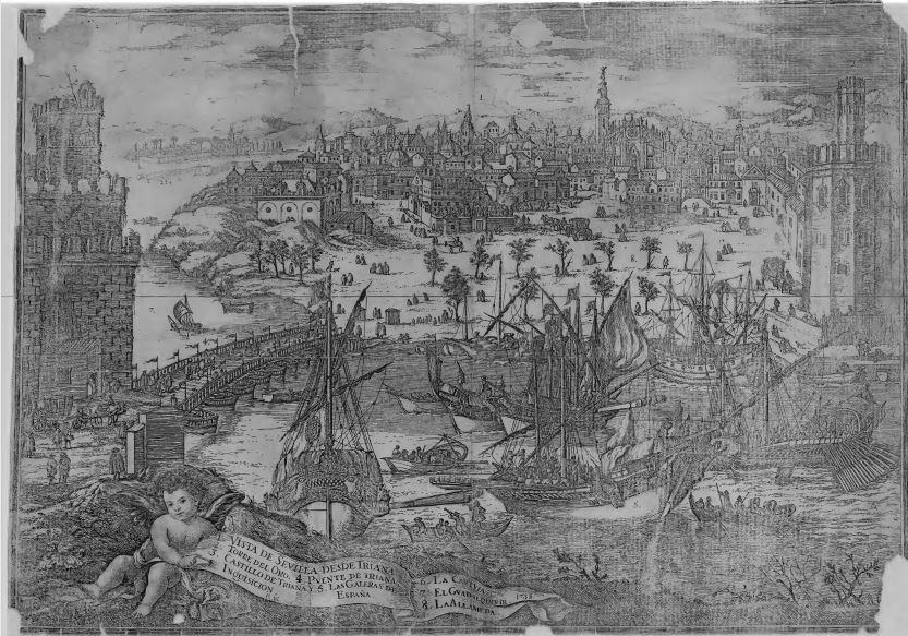 Vista de Sevilla desde Triana (1718).