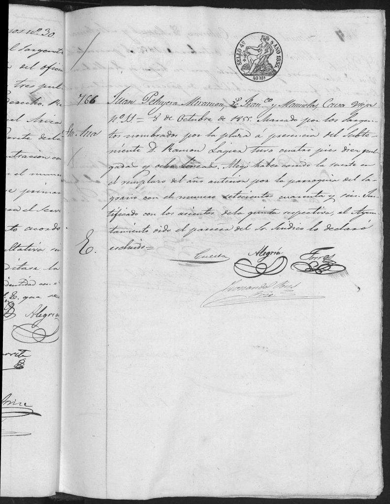Documento de exclusión del ejercito.